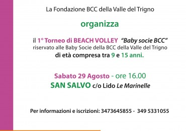 Torneo di Beach Volley Baby Soci BCC