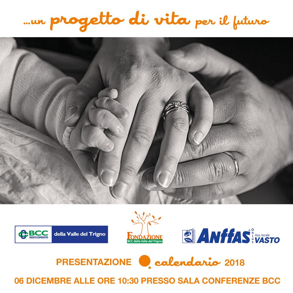 Calendario Per La Vita.Fondazione Bcc Valle Del Trigno Calendario 2018 Progetto
